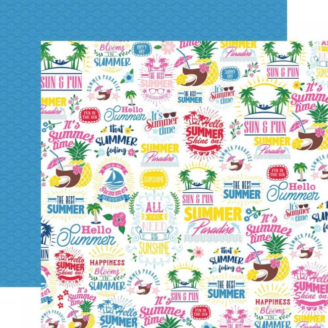 Papel Estampado Doble Cara 12x12 I Love Summer The Best Of Summer