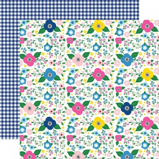 Papel Estampado Doble Cara 12x12 I Love Summer Summer Floral