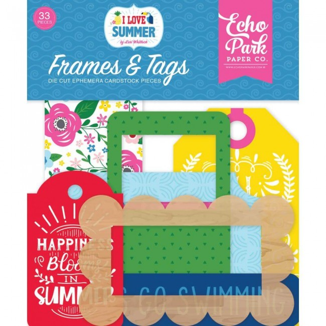 Die Cuts I Love Summer Frames & Tags