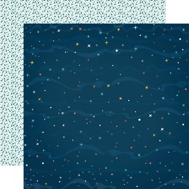 Papel Estampado Doble Cara 12x12 Summer Adventure Count The Stars