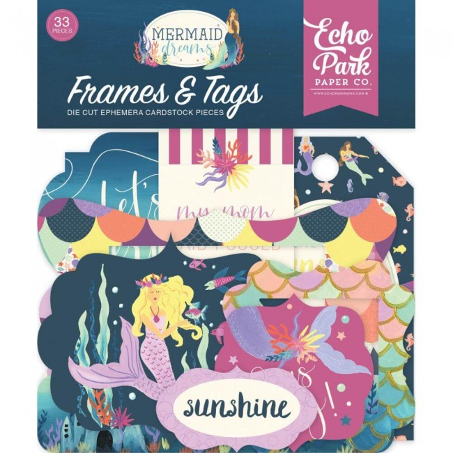 Die Cuts Mermaid Dreams Frames & Tags