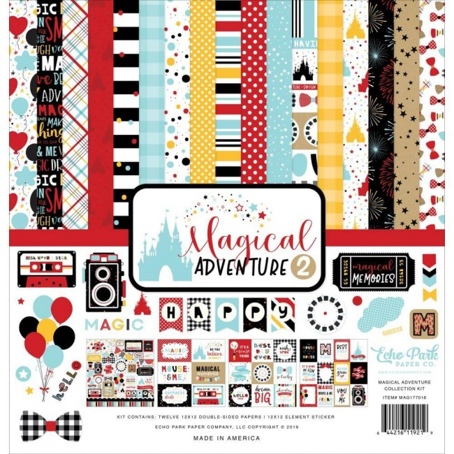 Kit Papeles Estampados 12x12 Magical Adventure 2