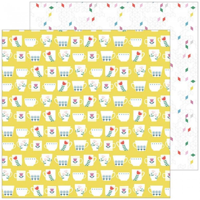 Papel Estampado Doble Cara 12x12 Everyday Musings Full Of Joy