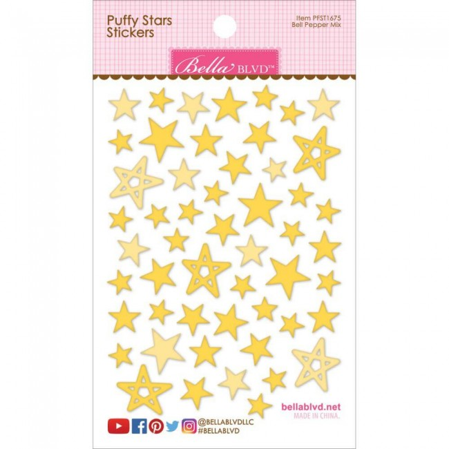 Pegatinas Puffy Stars - Bell Pepper Mix