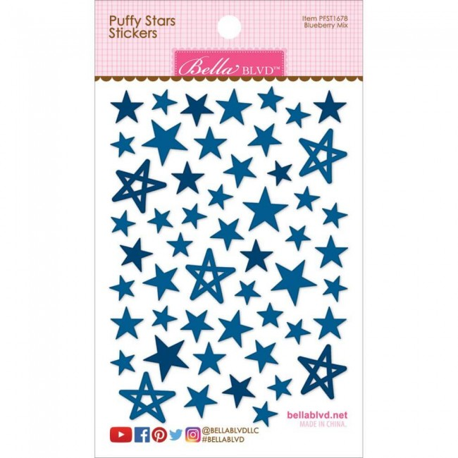 Pegatinas Puffy Stars - Blueberry Mix