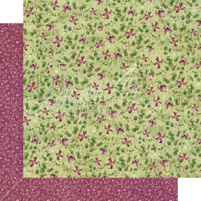Papel Estampado Doble Cara 12x12 Bloom Dainty Blossoms
