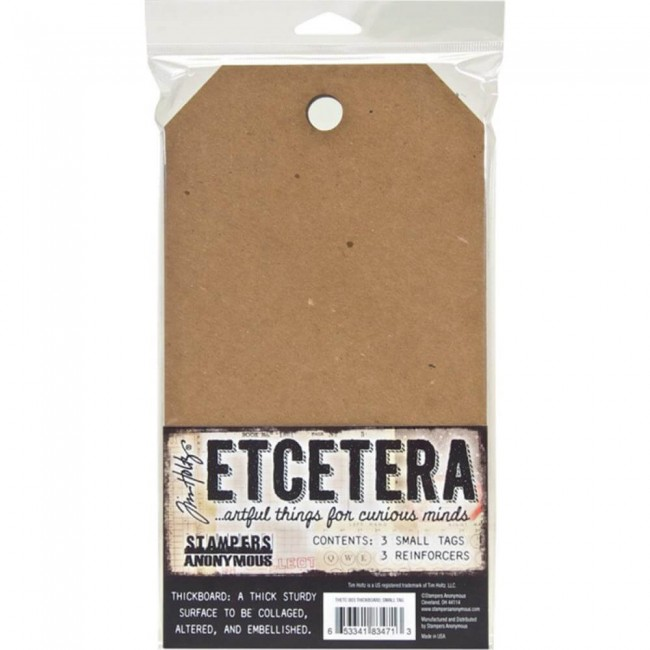 Tags Thickboard Tim Holtz Etcetera - Small