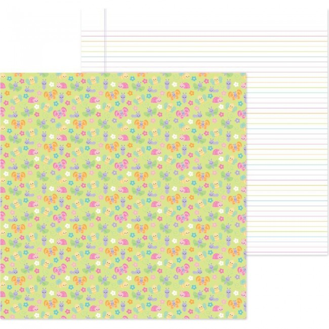 Papel Estampado Doble Cara 12x12 Simply Spring Bloomin' Bugs