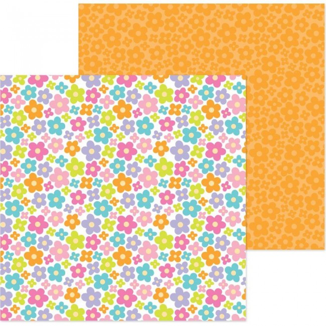 Papel Estampado Doble Cara 12x12 Simply Spring Pop of Posies