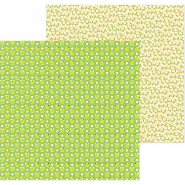 Papel Estampado Doble Cara 12x12 Simply Spring Hoppy Spring