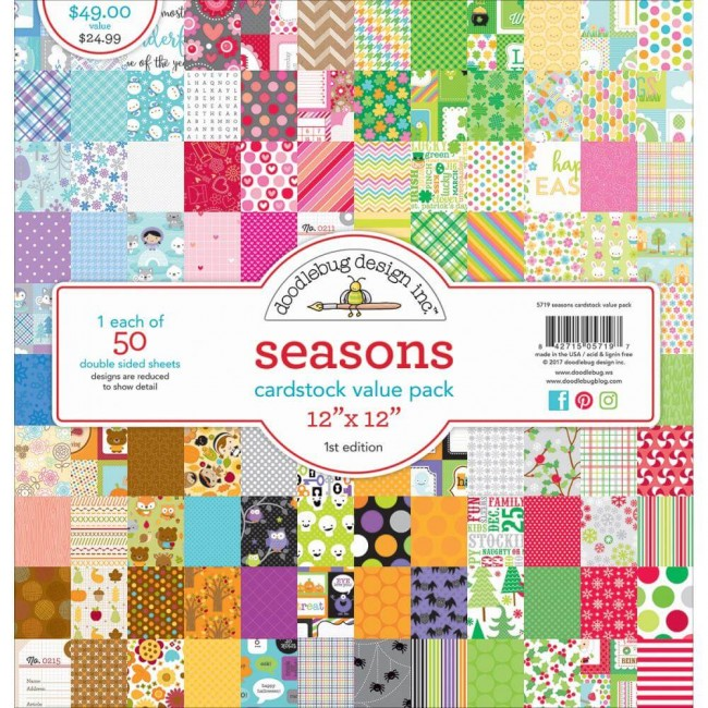 Stack Papeles Estampados 12x12 Seasons