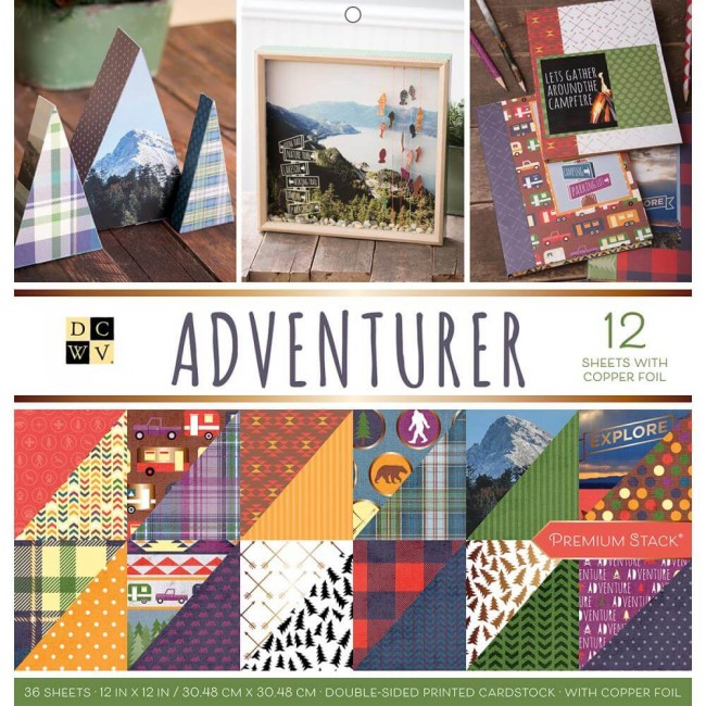 Stack Papeles Estampados 12x12 Adventurer