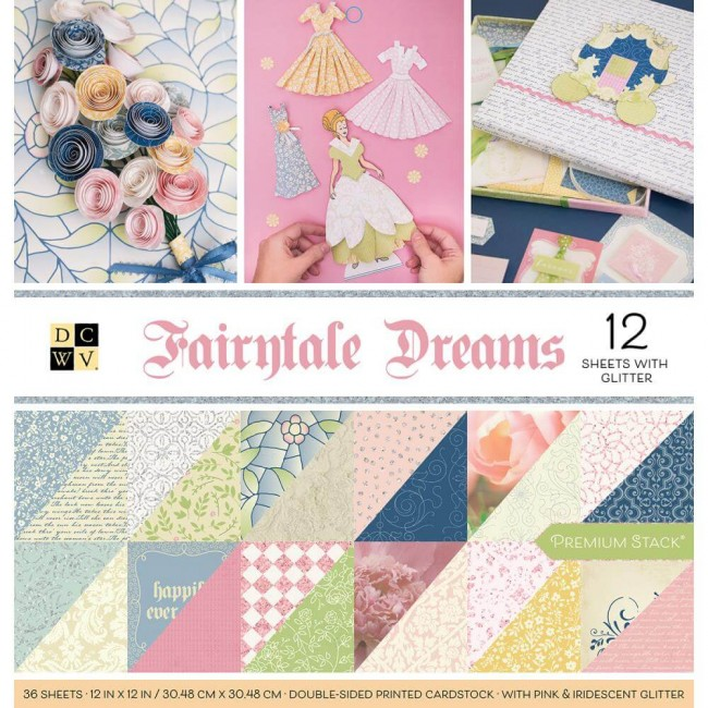 Stack Papeles Estampados 12x12 Fairytale Dreams