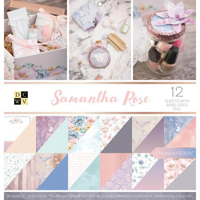 Stack Papeles Estampados 12x12 Samantha Rose