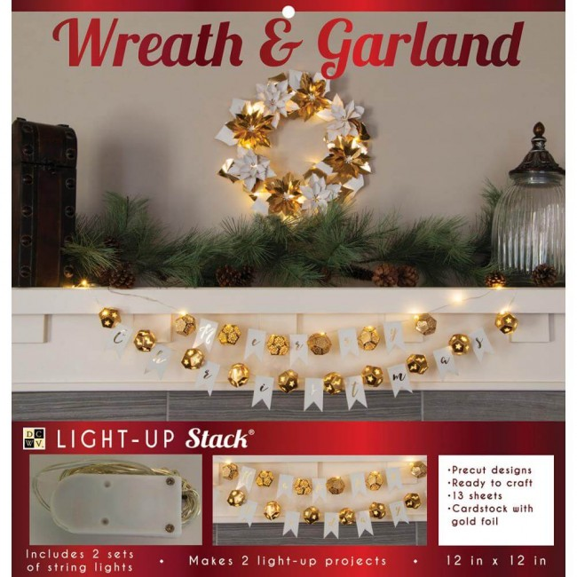 Die Cuts Light Up Project - Poinsettia Wreath