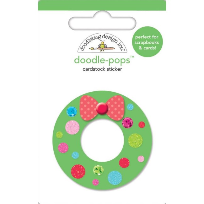 Pegatinas 3D Milk & Cookies - Wreath