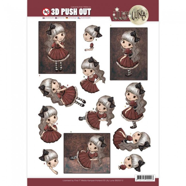 Die Cuts Lilly Luna - Just Being Gorgeous