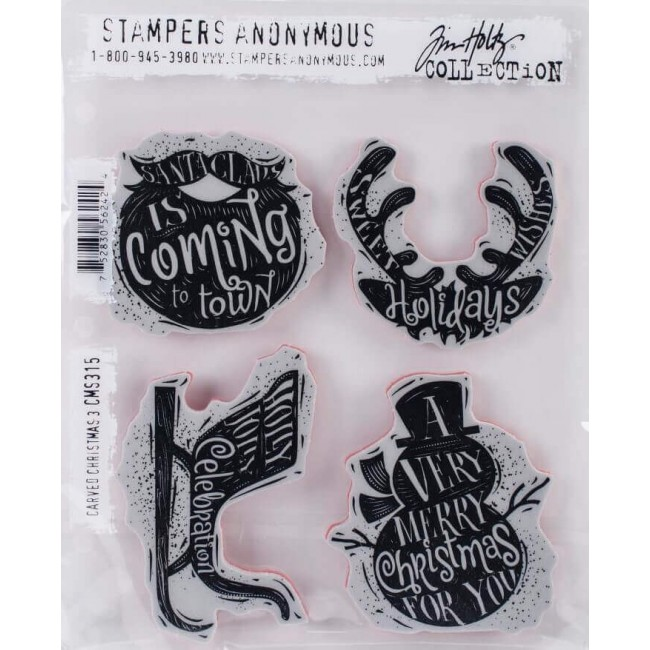 Sello de Caucho Tim Holtz Carved Christmas #3