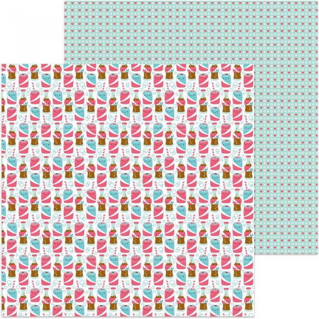 Papel Estampado Doble Cara 12x12 - So Punny - Soda-Lightful