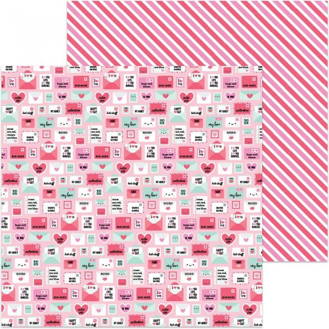Papel Estampado Doble Cara 12x12   So Punny   Pun Pal