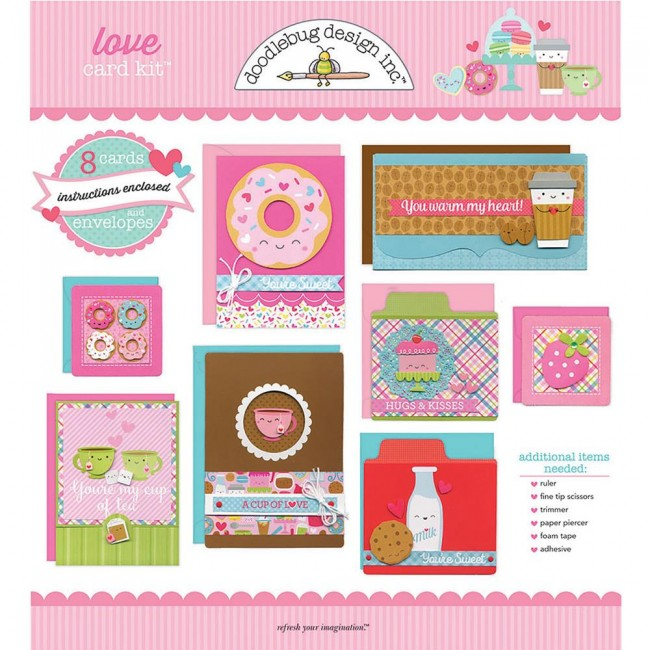 Kit de Tarjetas Cream & Sugar - Love