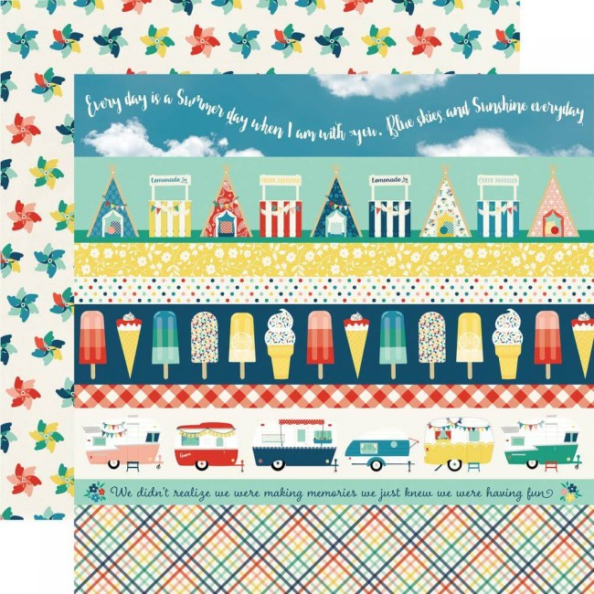 Papel Estampado Doble Cara 12x12 Good Day Sunshine Border Strips