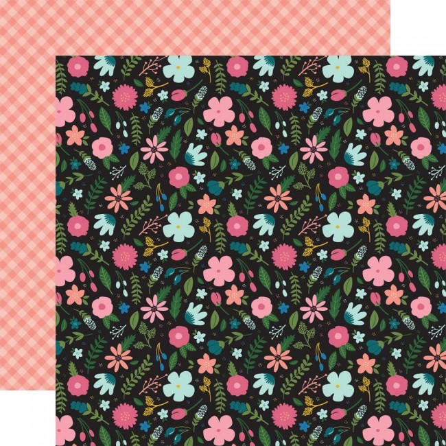 Papel Estampado Doble Cara 12x12 Have Faith Faith Floral
