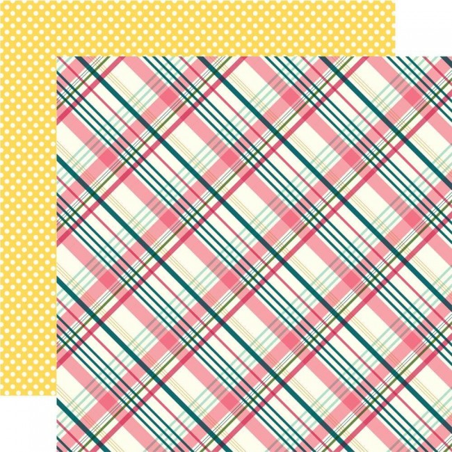 Papel Estampado Doble Cara 12x12 Have Faith Perfect Plaid