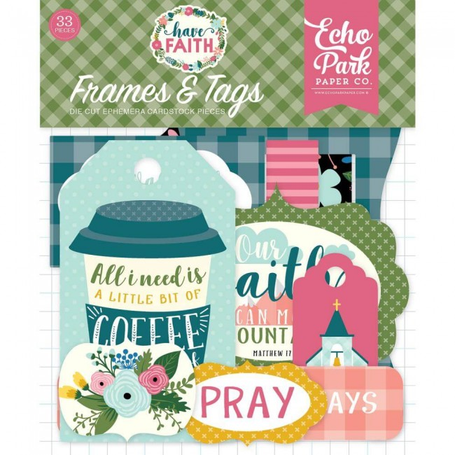 Die Cuts Have Faith Frames & Tags