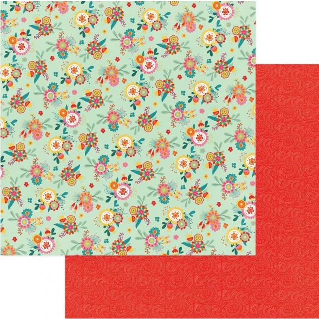 Papel Estampado Doble Cara 12x12 Paprika Patchouli