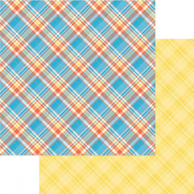 Papel Estampado Doble Cara 12x12 Mad 4 Plaid Happy Plaid