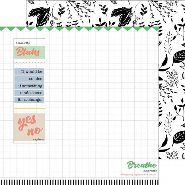 Papel Estampado Doble Cara 12x12 - A Case Of The Blahs - Chaos