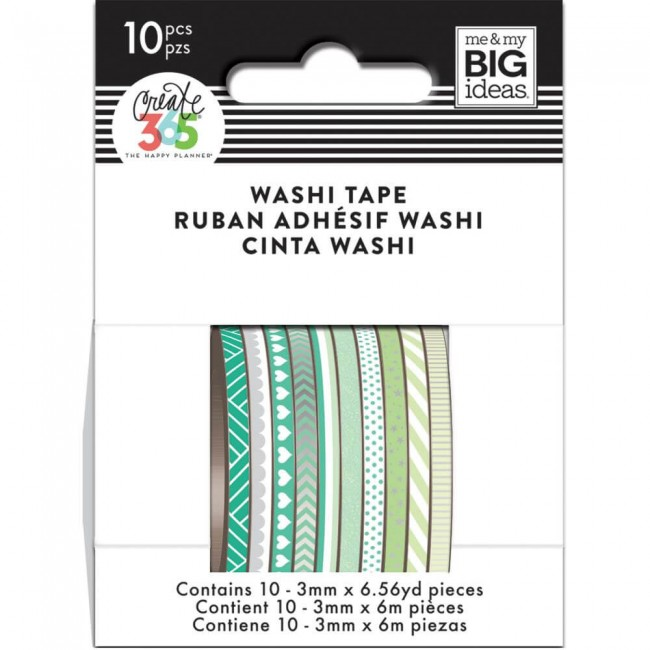 Washi Tape Create 365 - Green Hues