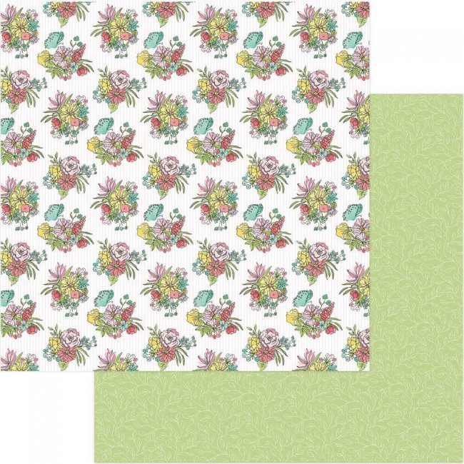 Papel Estampado Doble Cara 12x12 Spread Your Wings Renew