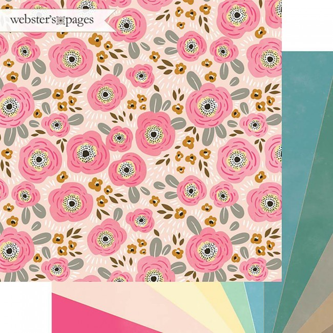 Papel Estampado Doble Cara 12x12 My Happy Place Sunshine