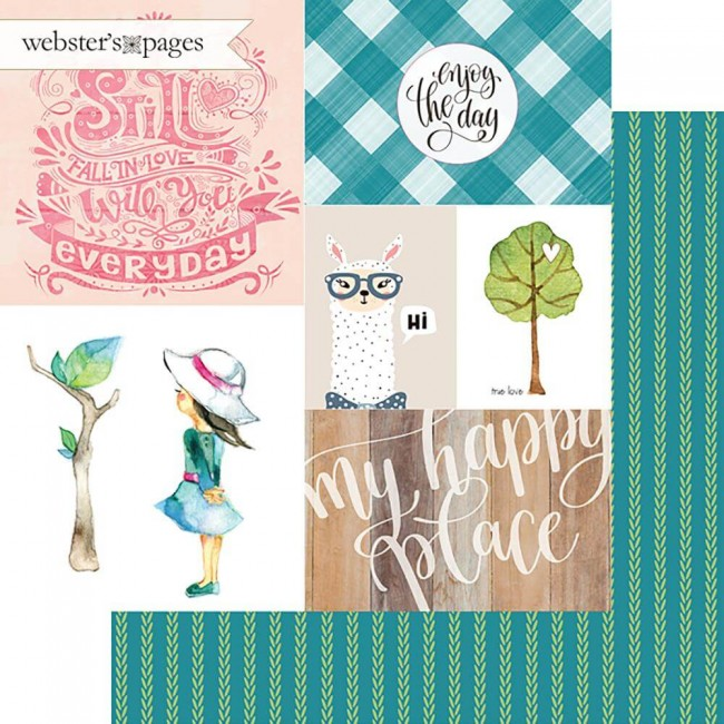 Papel Estampado Doble Cara 12x12 My Happy Place Enjoy The Day
