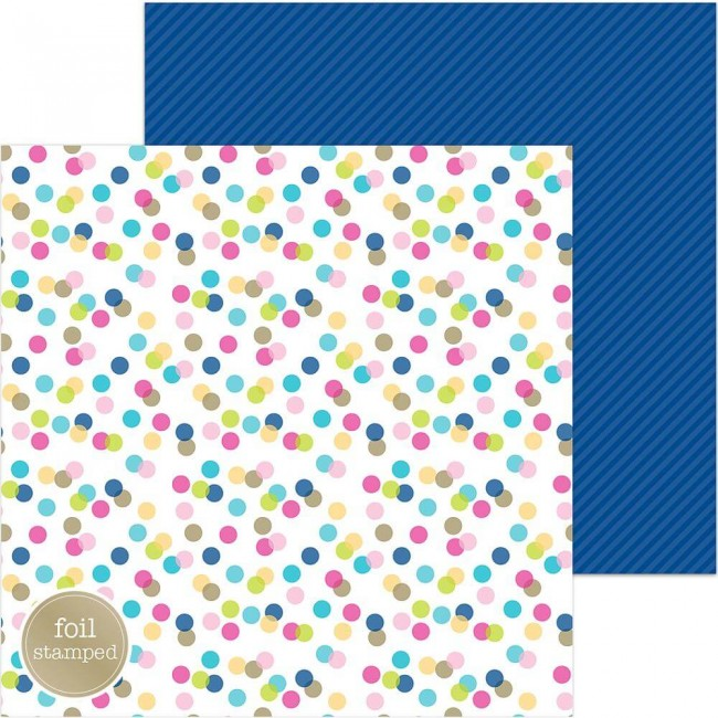 Papel Estampado Doble Cara 12x12 Hello Garden Party Foil