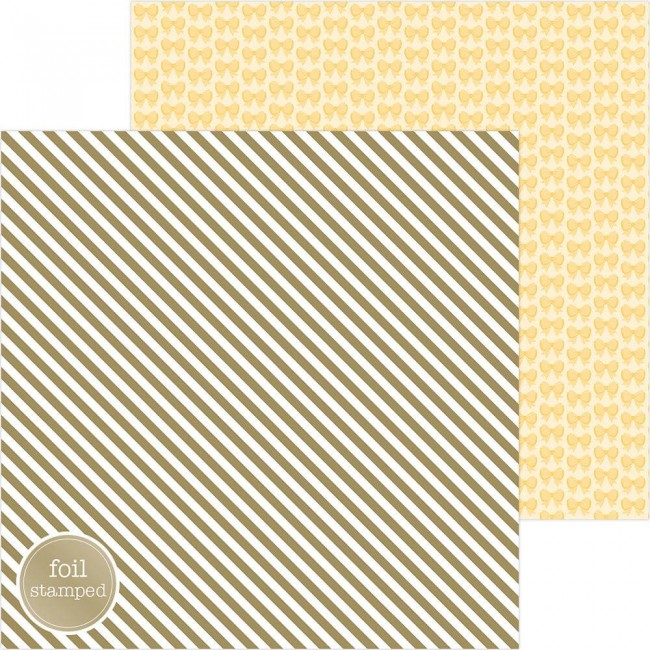 Papel Estampado Doble Cara 12x12 Hello Good As Gold