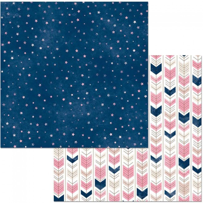 Papel Estampado Doble Cara 12x12 Little Wonders Sage