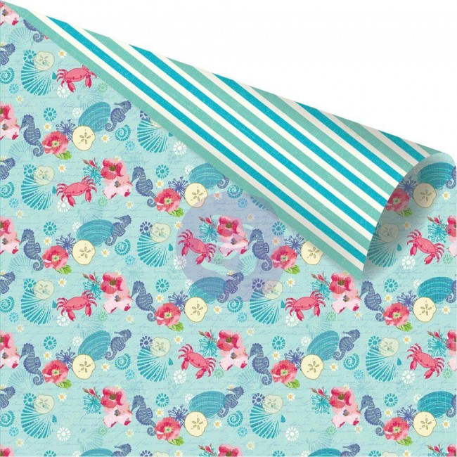 Papel Estampado Doble Cara 12x12 Mermaid Kisses Sea Friends