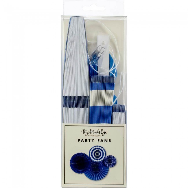 Set Rosetones de papel Blue