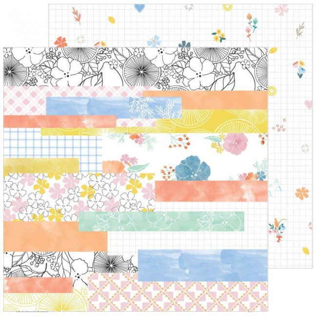 Papel Estampado Doble Cara 12x12 Simple & Sweet Happy Life