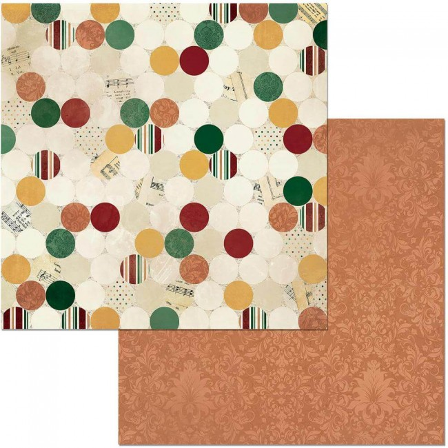 Papel Estampado Doble Cara 12x12 Yuletide Carol Traditional