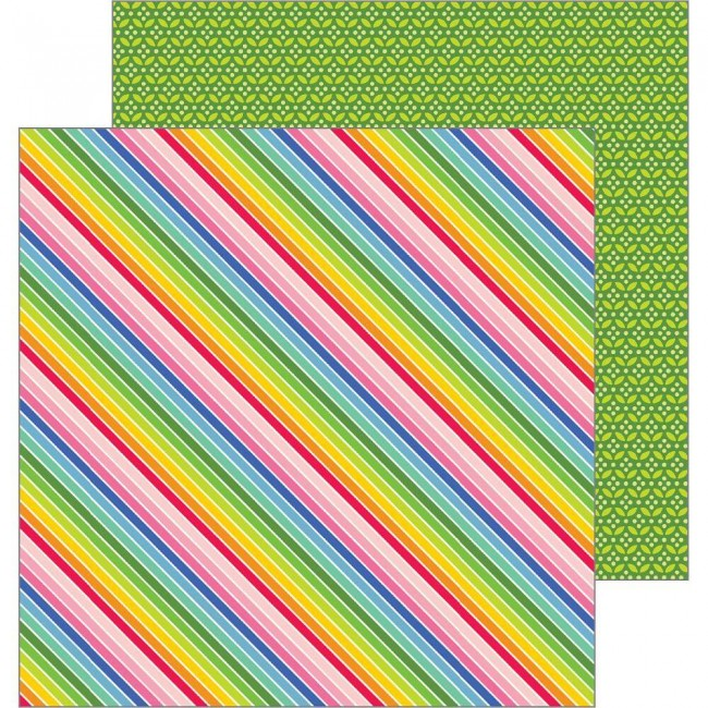 Papel Estampado Doble Cara 12x12 My Bright Life Bright Stripes