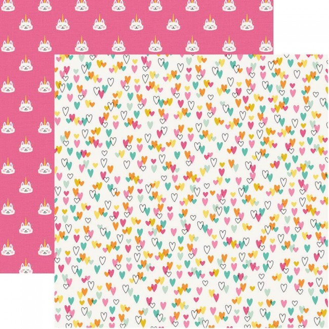 Papel Estampado Doble Cara 12x12 Dream Big Meowgical