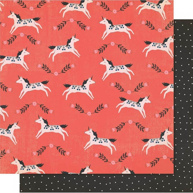 Papel Estampado Doble Cara 12x12 Maggie Holmes Willow Lane Frolic