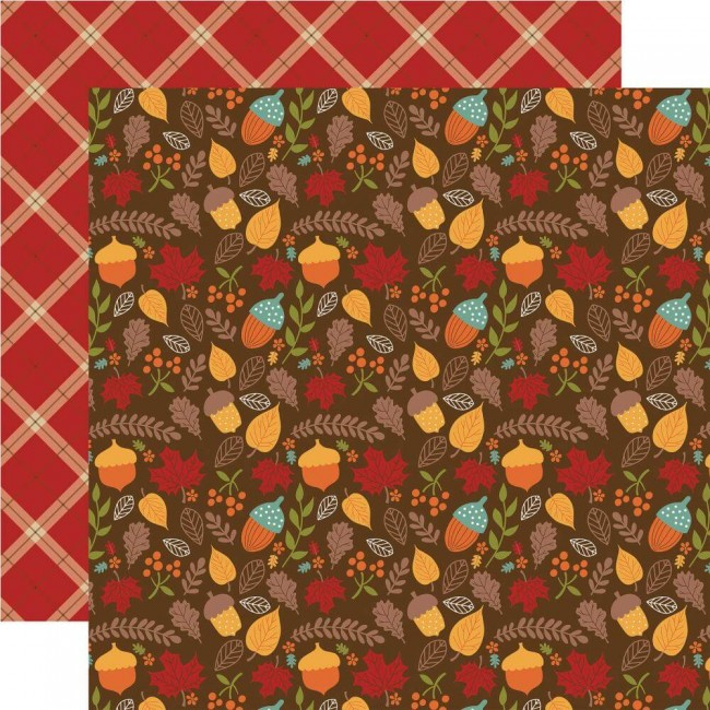 Papel Estampado Doble Cara 12x12 Celebrate Autumn Autumn Acorns