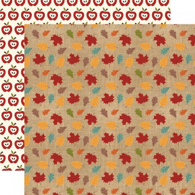 Papel Estampado Doble Cara 12x12 Celebrate Autumn Colored Leaves