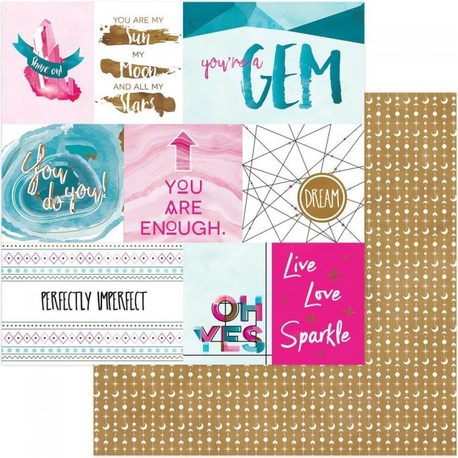Papel Estampado Doble Cara 12x12 You're A Gem Cut-Aparts