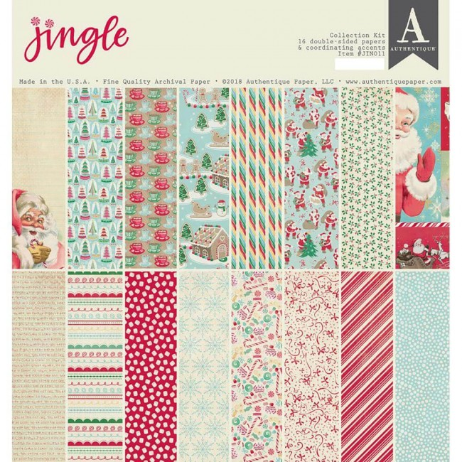 Kit Papeles Estampados 12x12 Jingle